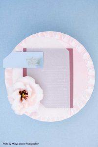 Transparent wedding menu