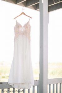 Naked lace wedding gown