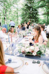 Modern wedding dinner party