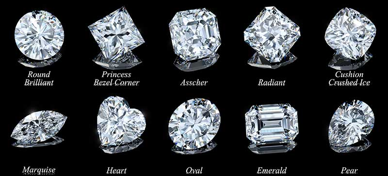 Diamond engagement ring shapes and styles