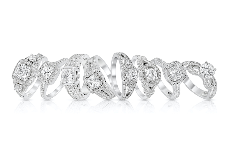 Variety of engagement ring shapes