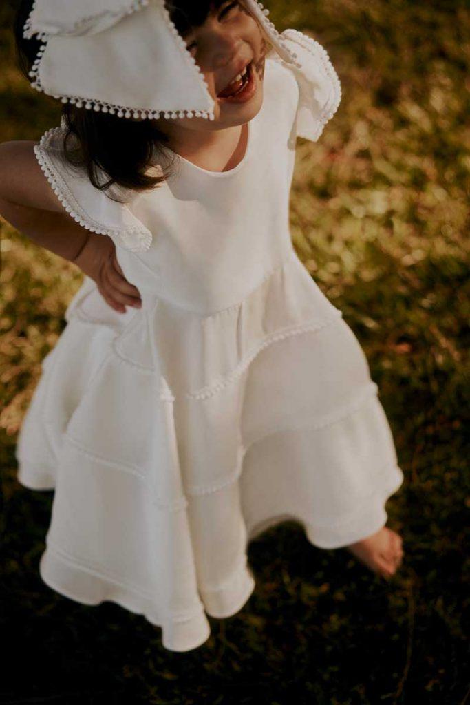 Sustainable flower girl dress