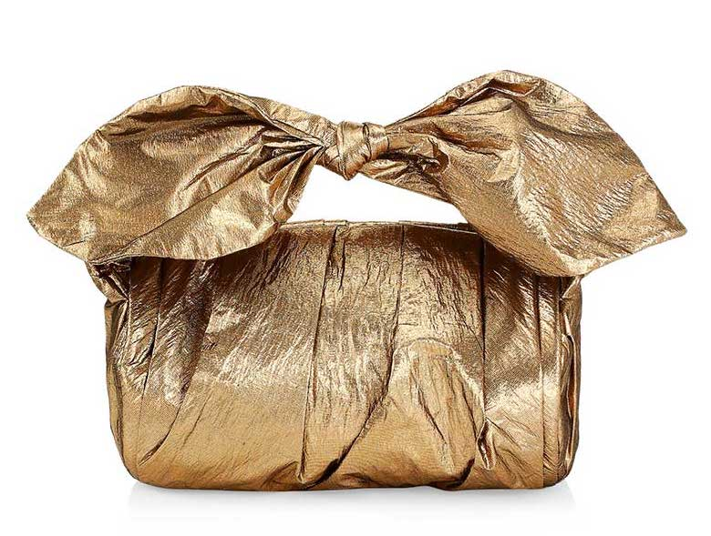 Gold knotted bag