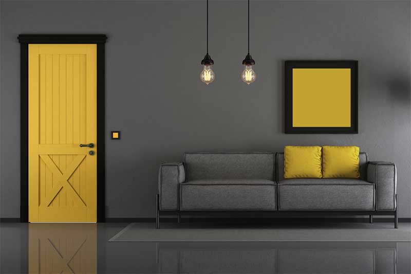 Pantone Color of the Year 2021 interior design color scheme gray and yellow