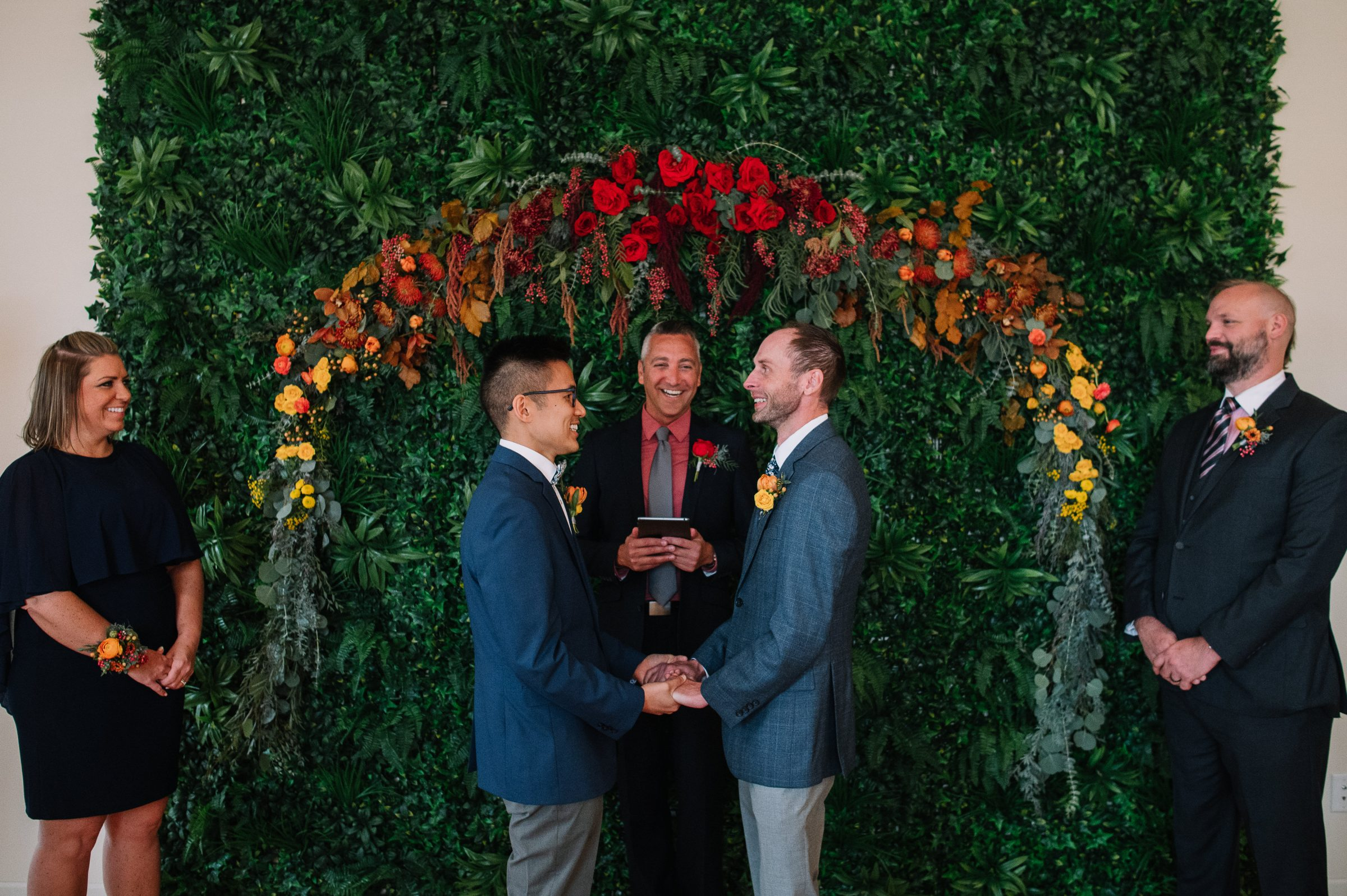 Two men marry in micro wedding at Minneapolis venue