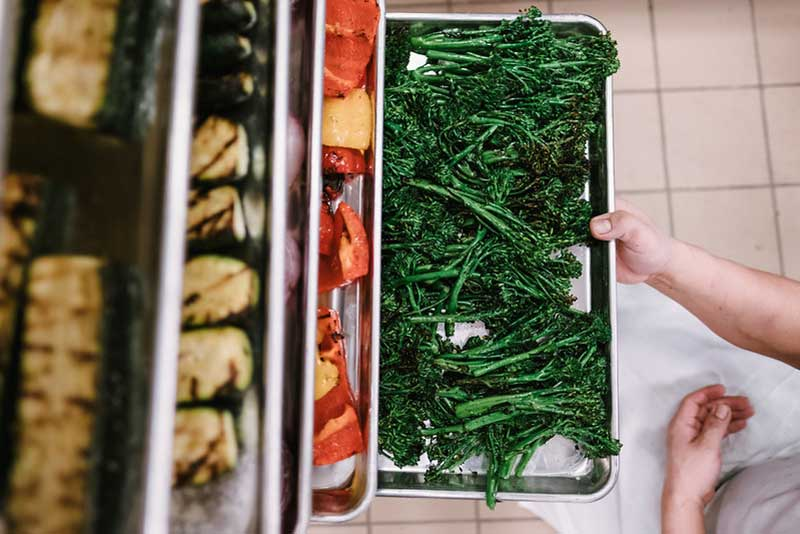 Vegetable wedding side dish by J. Powers