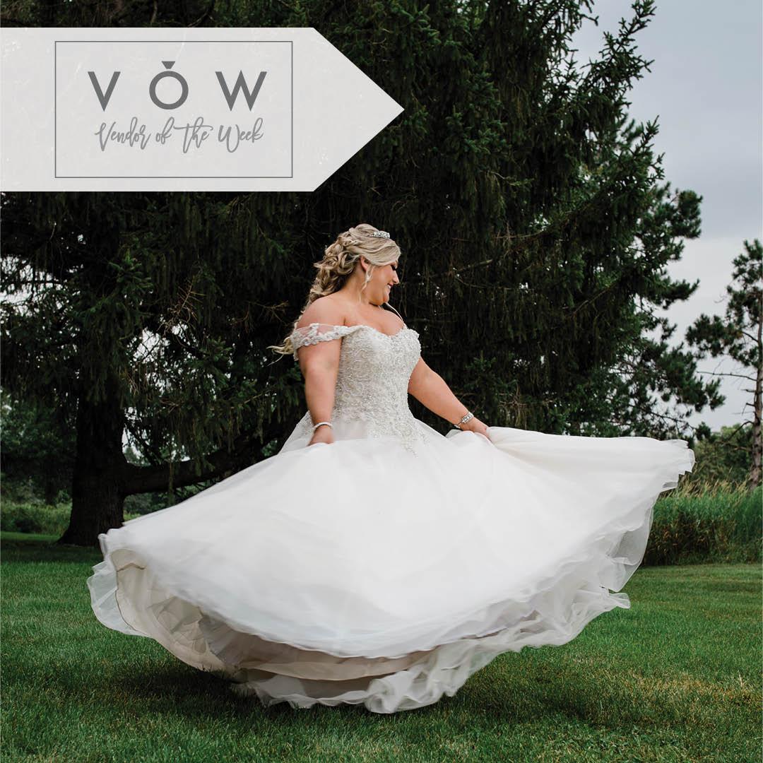 Bride twirls in ballgown photo by Liz Marie Photography