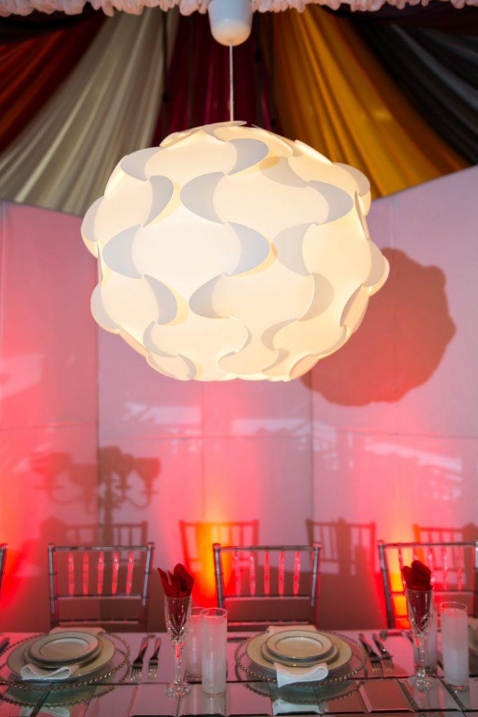 Mod white chandelier