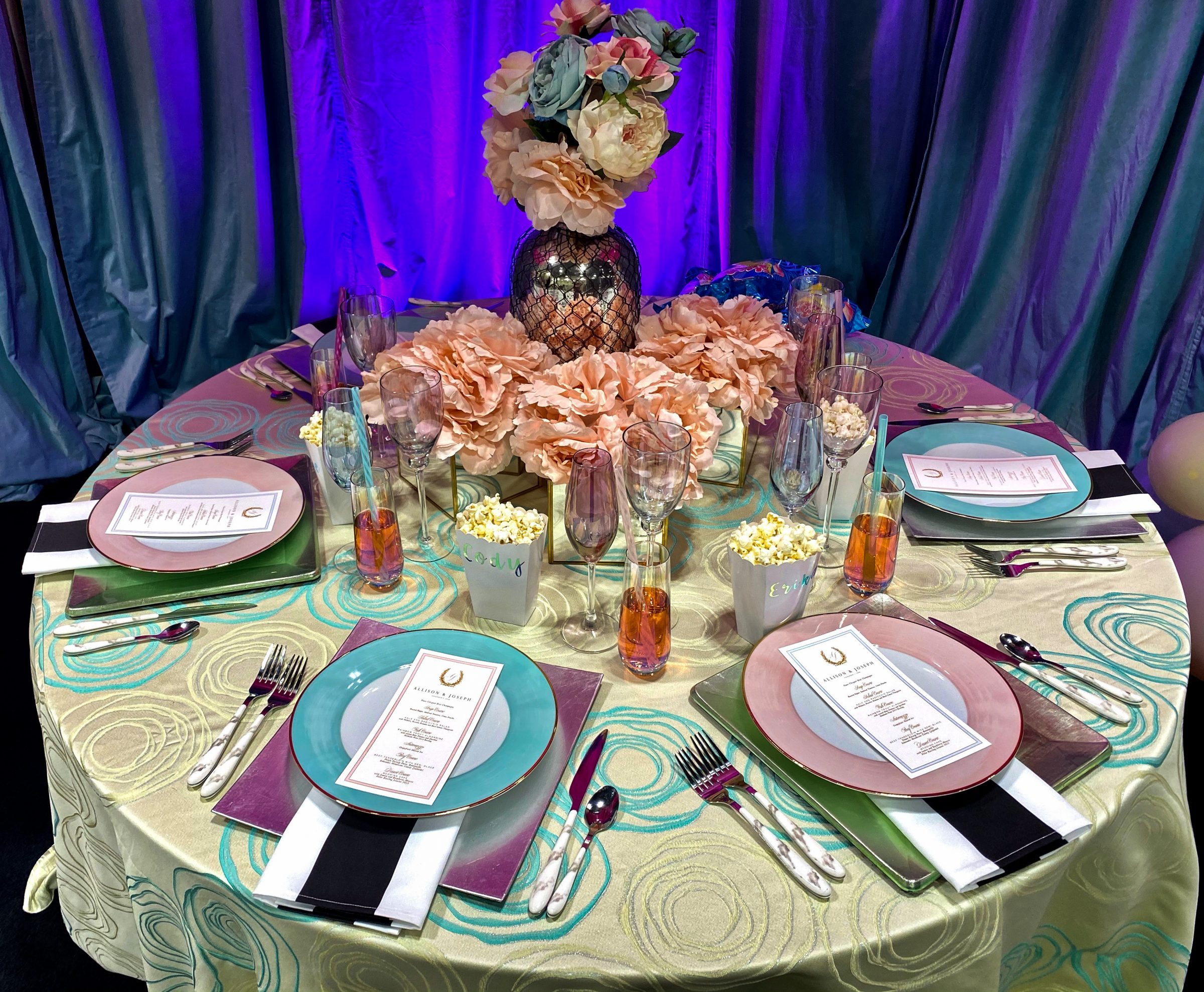 Wedding plates and tabletop decor