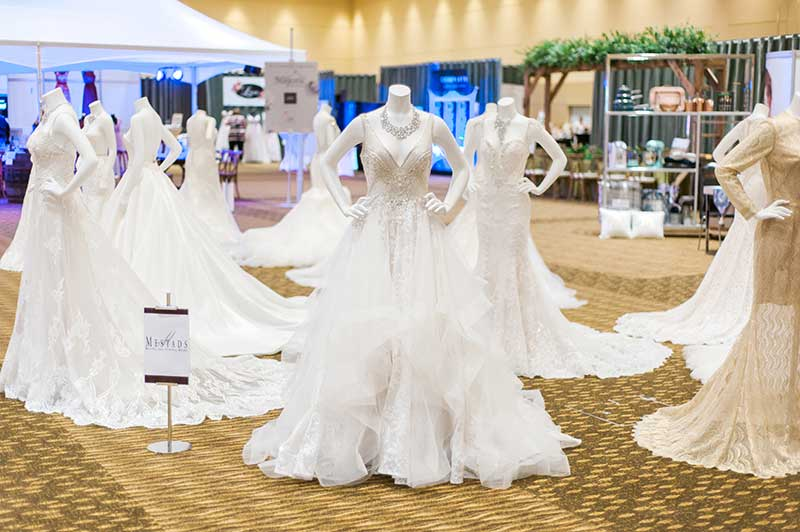 Bridal gown gallery at unveiled rochester 2021 wedding show