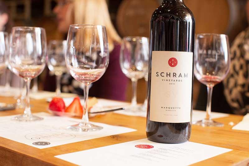 Winery in Minnesota wine tasting room