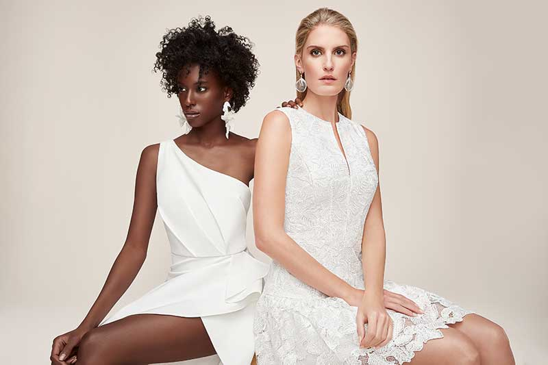 Little White Dress Collection dresses on two models