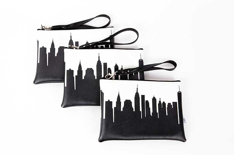 City skyline couples shower favors