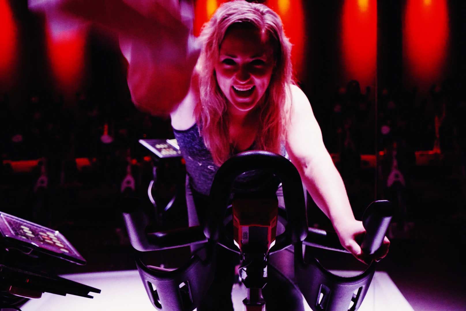 Woman takes Cyclebar class to get in shape for your wedding