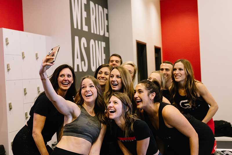Bachelorette group takes workout class