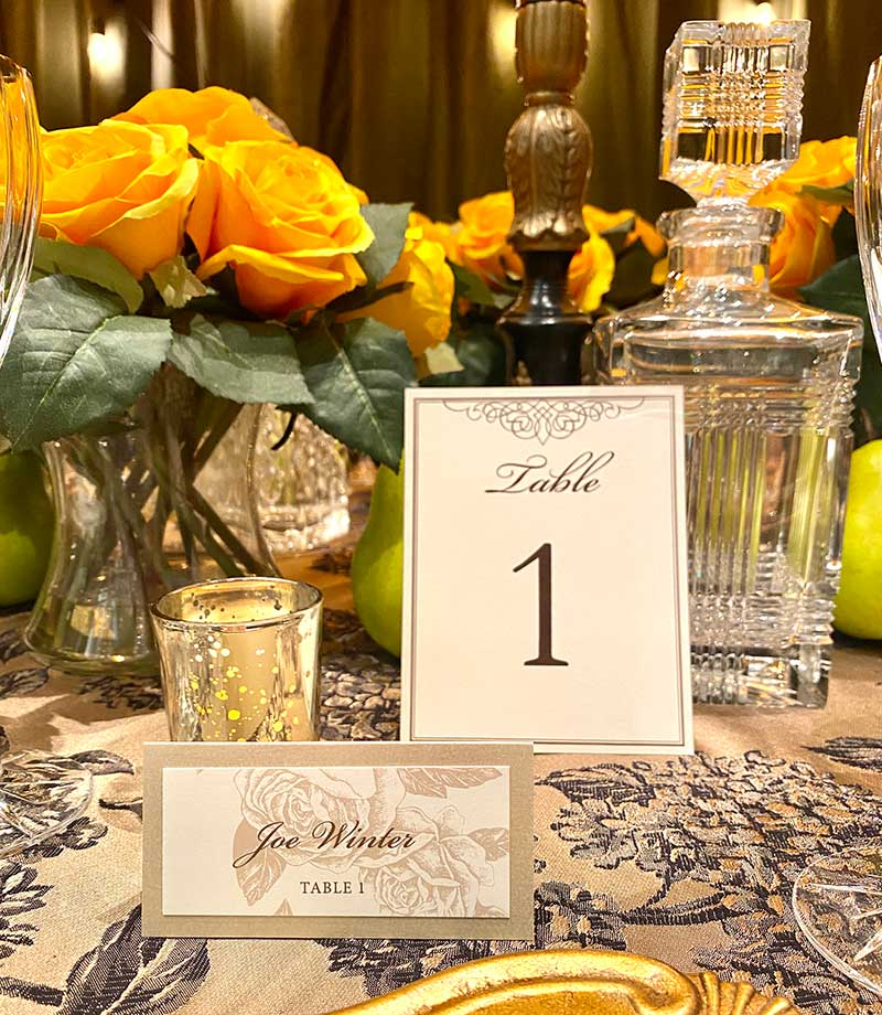 2021 Twin Cities Bridal Show wedding table signage