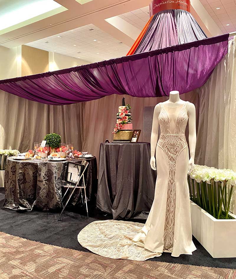 Modern sleek bridal gown from Flutter Bridal Co.