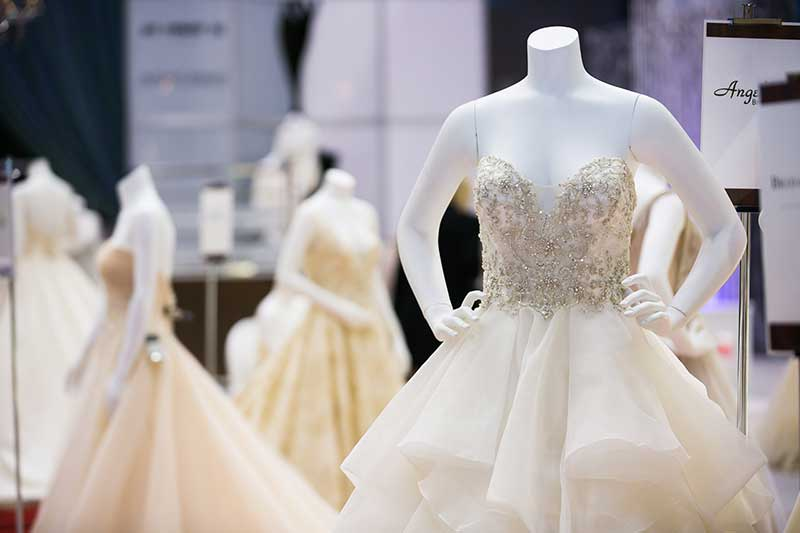 Bridal gown gallery at UNVEILED 2021 in MInneapolis