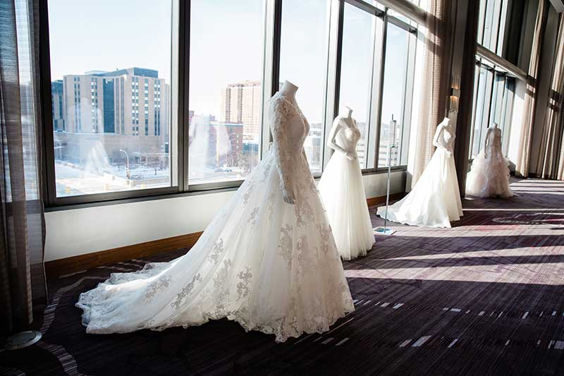 Bridal gown gallery at Rochester, Minnesota bridal show