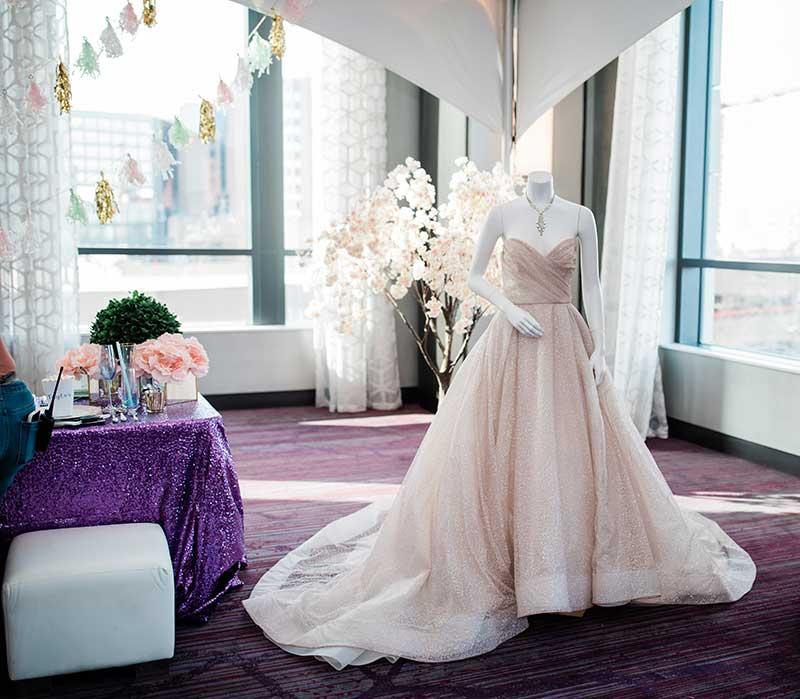 Blush sparkly ballgown