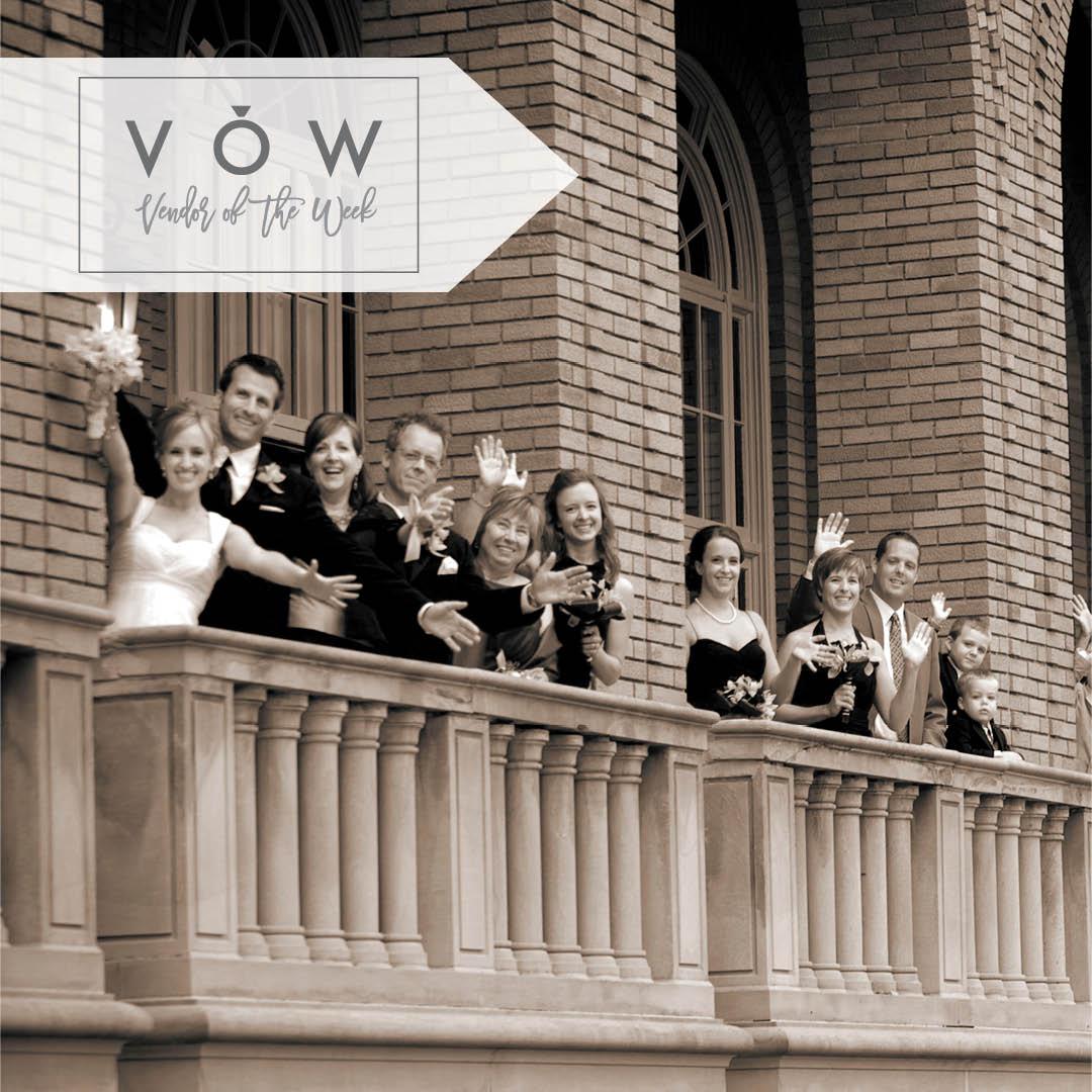 Woman's Club of Minneapolis Balcony wedding party photo