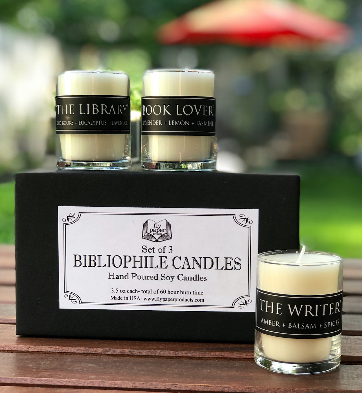 Book lover candles as an unusual but great shower gifts