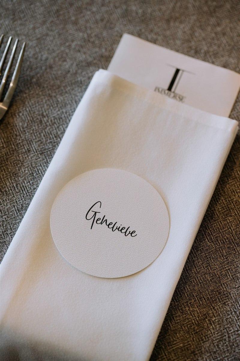 White on white wedding table place setting