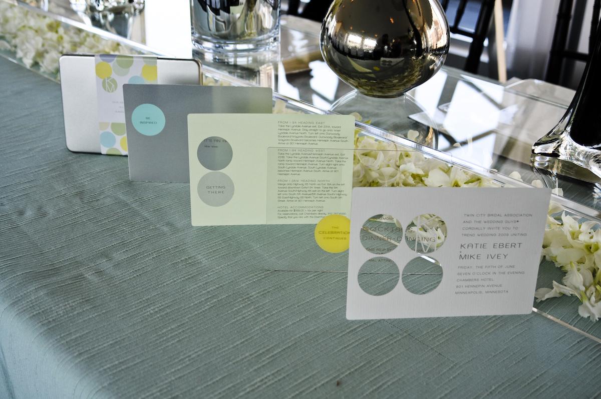 Modern art wedding acrylic wedding invitaitons
