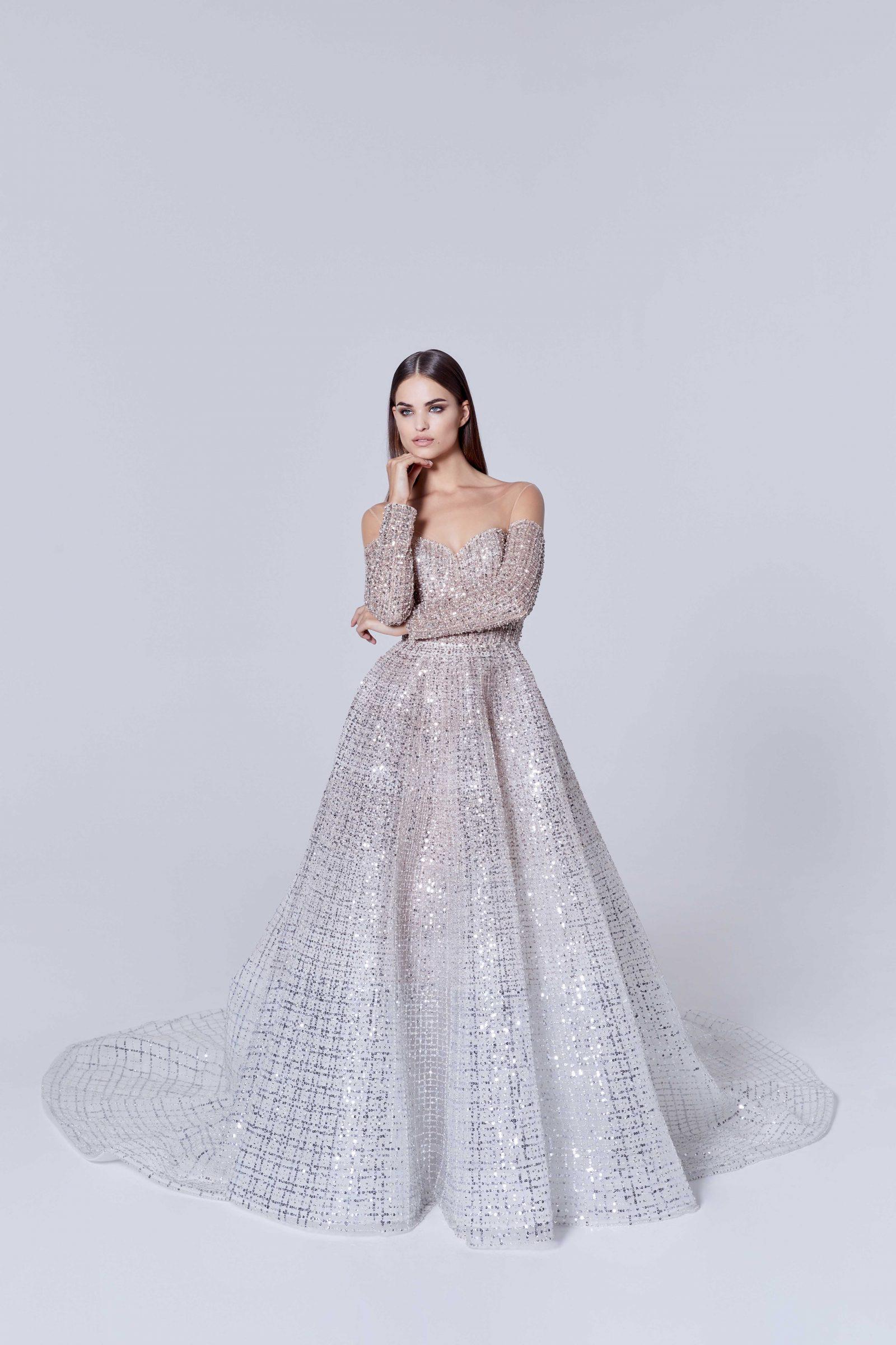 Sequin sparkle bridal ballgown