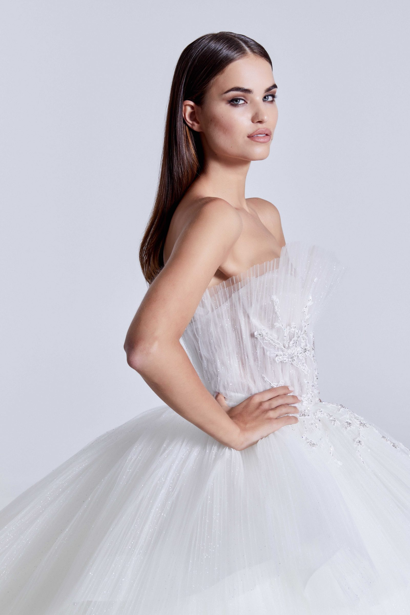Tulle ballgown with sequin bodice