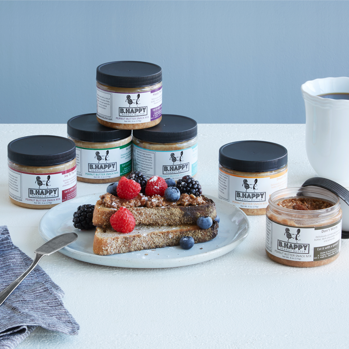 Peanut butter sampler pack as an unusual but great shower gifts for the bride and groom