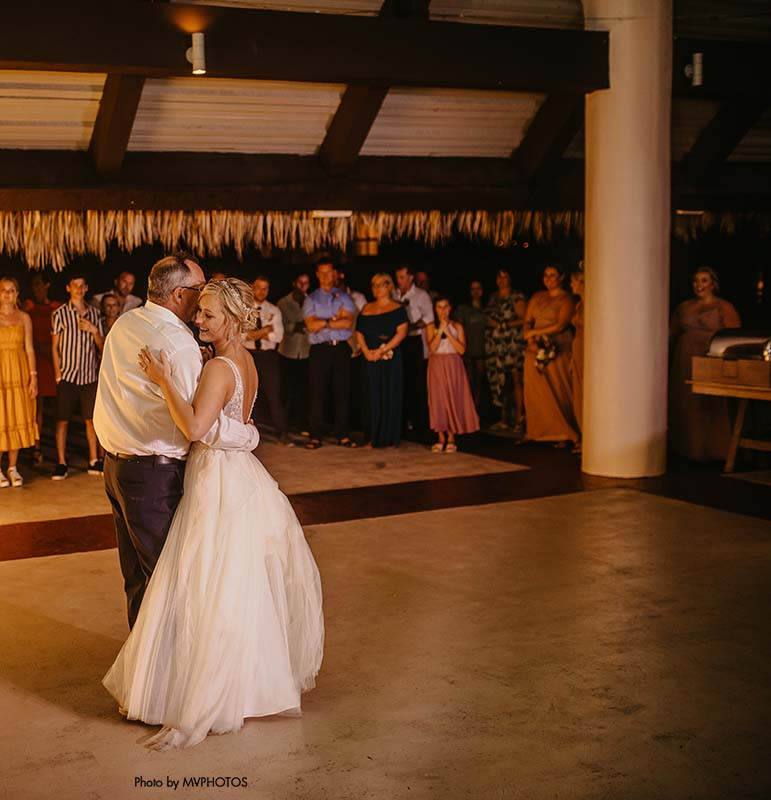Bride and father share dance