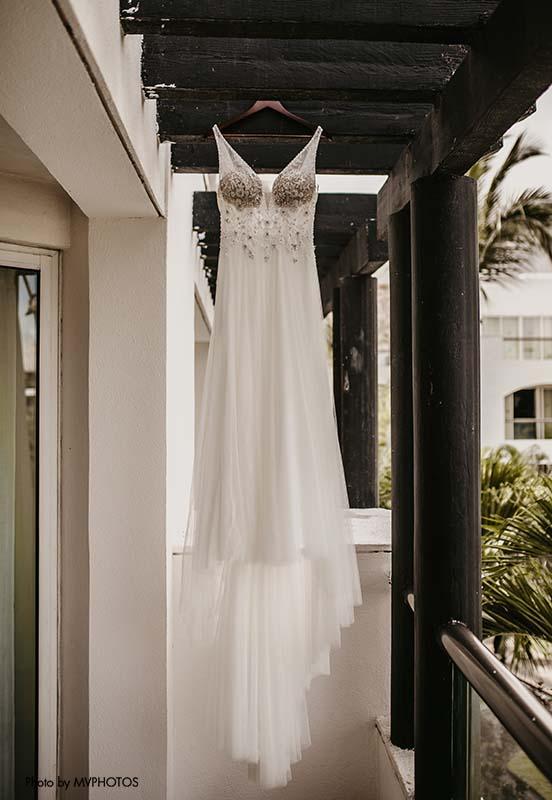 Bridal gown for destination wedding