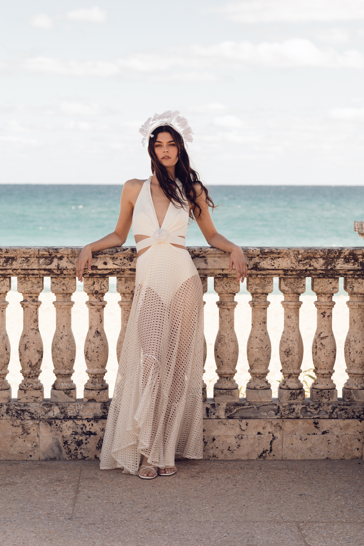 Bridal beach outfit