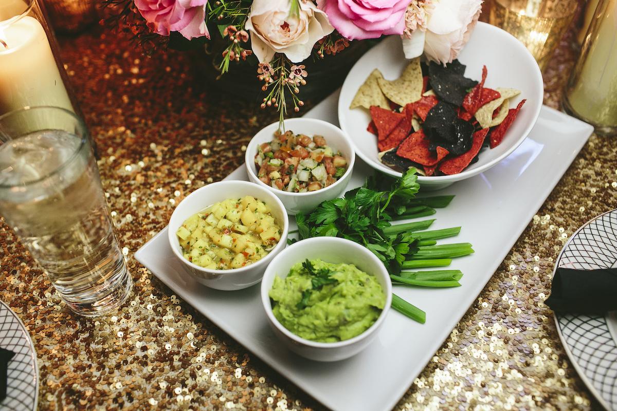 Vegetable plate at wedding