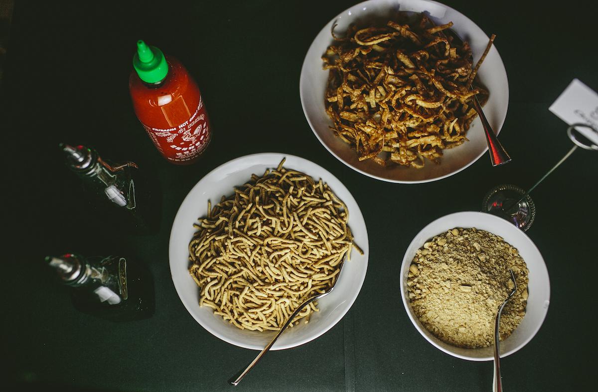 Noodle station at wedding for dinner