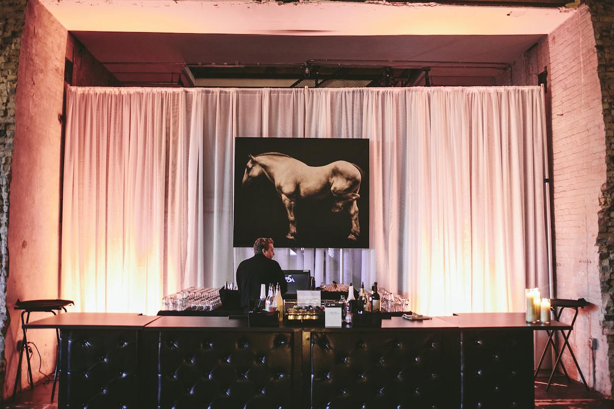 Derby-style bar at wedding