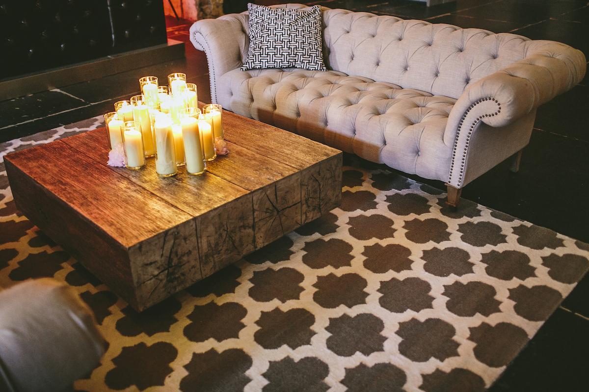 Industrial wedding bar lounge