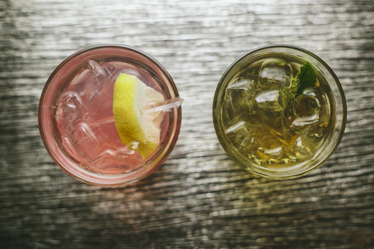Bride and groom custom cocktails