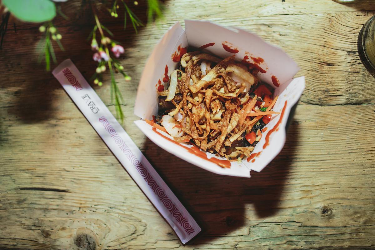 Asian noodles as wedding dinner