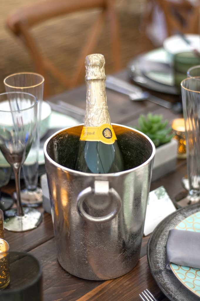 Champagne centerpiece