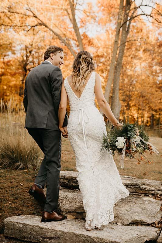 Wedding in the fall in Minnesota