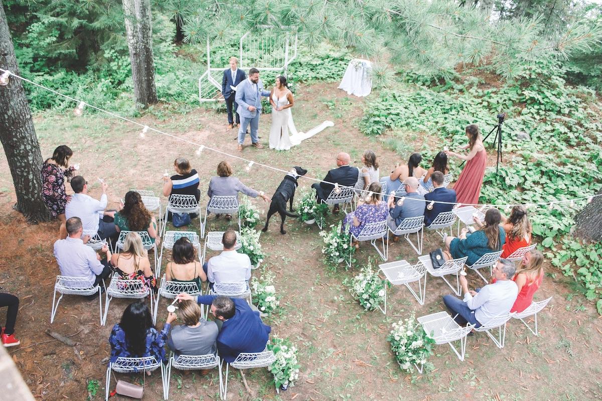 Micro weddings in the woods in Wisconsin
