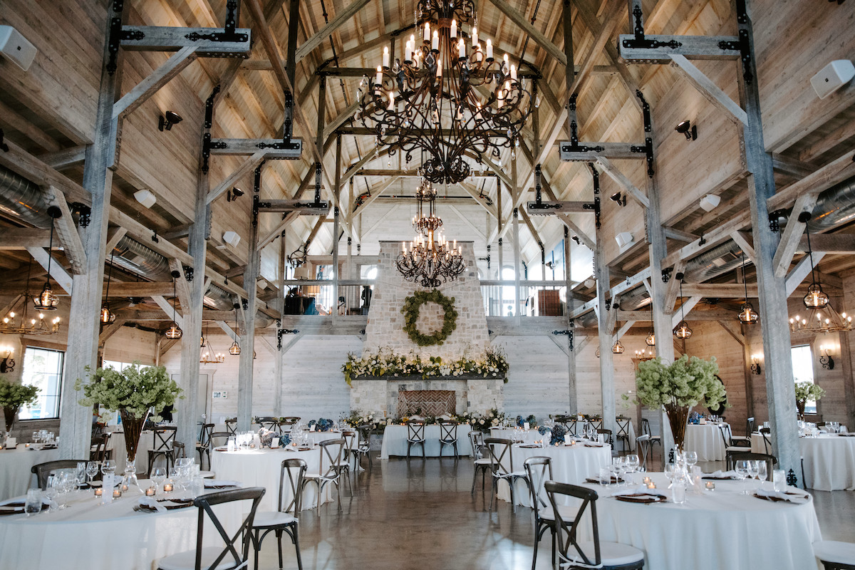 How to host a 2021 wedding reception during COVID at a barn venu