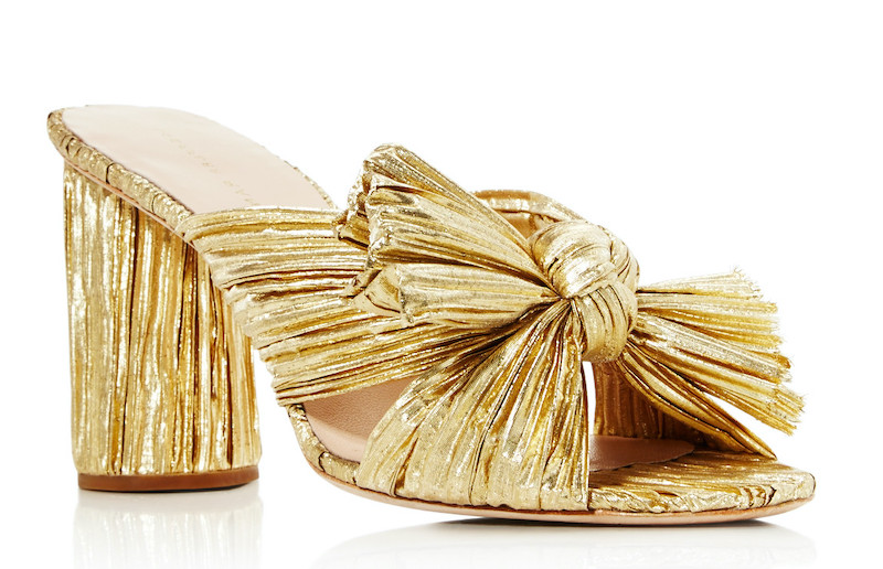 Gold foil chunky heals with bow