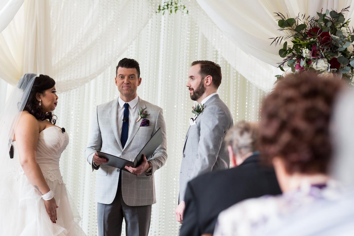 Wedding ceremony at Calhoun Beach Club