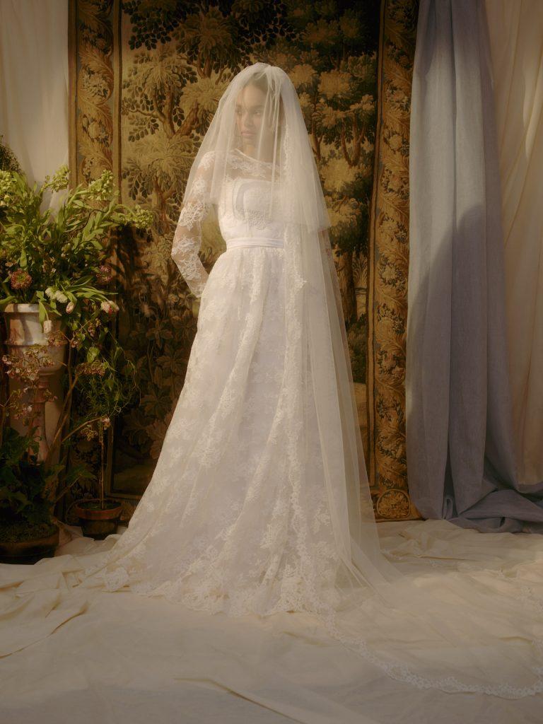 High low bridal veil