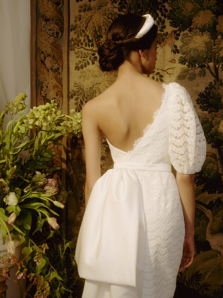 One-shoulder bridal gown by Markarian