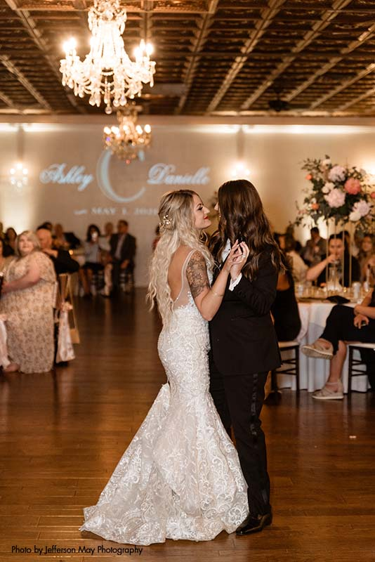 Brides share first dance as wife and wife