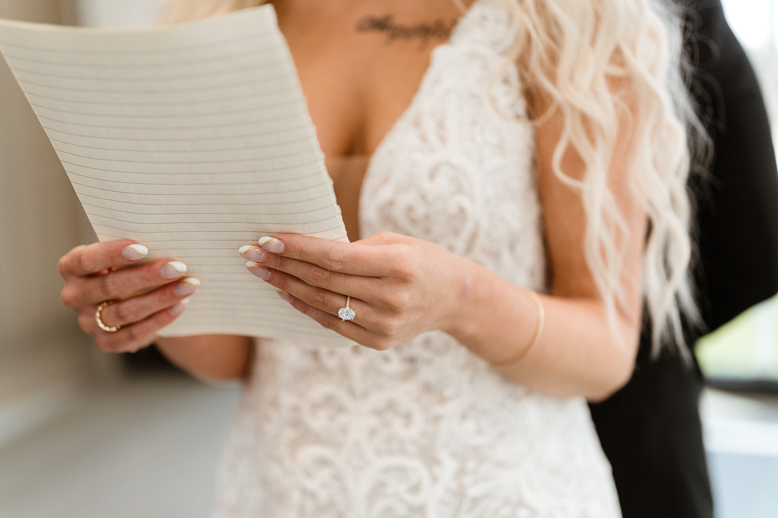 Brides read vows to each other